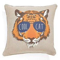 Levtex 'Tiger with Glasses' Accent Pillow