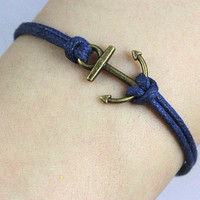 Anchorantique bronze anchor braceletanchor by sweethearteverybody