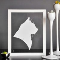 CUSTOM 8x10 pet silhouette hand cut in black or by JessicaAlpern