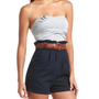Charlotte Russe - Belted High-Waist Romper