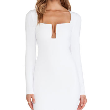 Nookie Stadium Winter Edition Dress in White