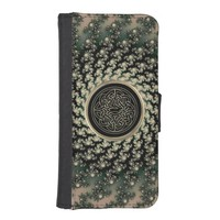 Taupe Celtic Fractal Wallet Phone Case