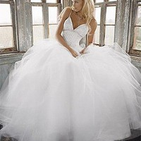 Buy discount Beautiful Elegant Exquisite Satin Ball Gown Wedding Dress In Great Handwork at dressilyme.com