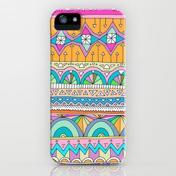 Tribal Lines #3 iPhone & iPod Case by Ornaart