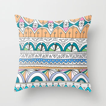 Tribal Lines #4 Throw Pillow by Ornaart