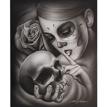 """Hasta La Muerte"" Art Print by Black Market Art"