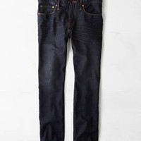 Slim Straight Jean, Dark Thunder Teal   American Eagle Outfitters