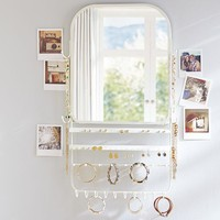 Over The Door Jewelry Organizer Mirror
