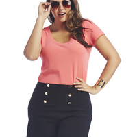 High Waisted Sailor Short | Wet Seal