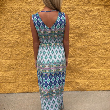 Surprise Printed Maxi Dress