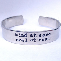 Mind at ease, Soul at rest- Cuff Bracelet