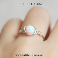 Opal ring - wire wrapped jewelry handmade - wire wrap ring - unique rings - custom