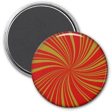 School Colors Twirl Magnet, Red-Gold