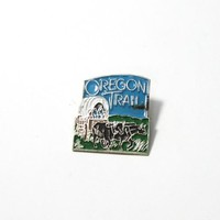 OREGON TRAIL COLORFUL TRAVELERS PIN WITH BACKING