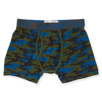 Camo Knit Trunks