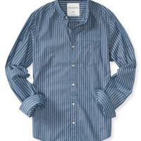 Long Sleeve Pinstripe Woven Shirt