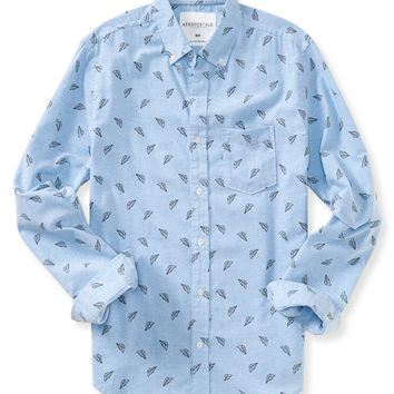 Long Sleeve Paper Planes Woven Shirt