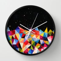 Space Shapes Wall Clock by Fimbis