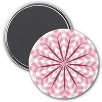Curves Flower Refrigerator Magnet, Purple