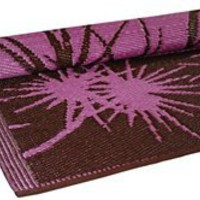 FLOORMAT Bamboo 6ft x 4ft in Pink & Brown - Koko Company