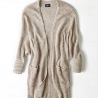 's Ribbed Dolman Cardigan
