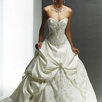 Buy discount A Stunning Satin Sweetheart Wedding dress at dressilyme.com
