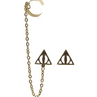 Harry Potter The Deathly Hallows Ear Cuff Earrings