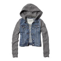 denim and fleece jacket