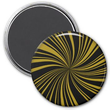 School Colors Twirl Magnet, Black-Gold