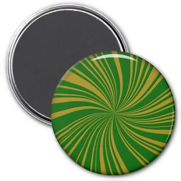 School Colors Twirl Magnet, Green-Gold