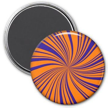 School Colors Twirl Magnet, Orange-Blue