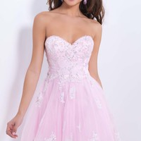 Beaded Sweetheart Dress by Blush by Alexia