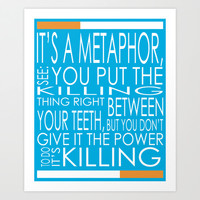 It's A Metaphor Art Print by Emily Ann
