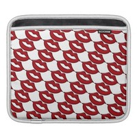 Red Hot Lips iPad Sleeve Horizontal