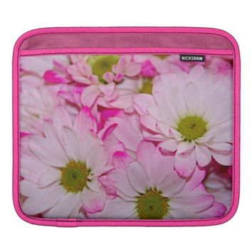 Dyed Pink Daisies iPad Sleeve Horizontal