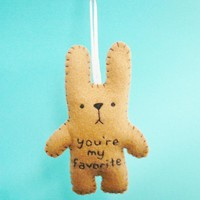 Felt Animals - Funny Bunny - You're My Favorite | Luulla