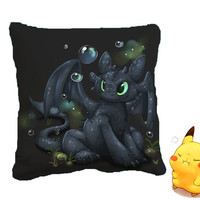 Toothless How to Train Your Dragons Pillow Cover kachupillow