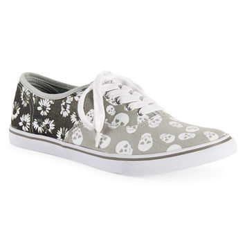 Skull Floral Low-Top Sneaker