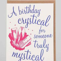 Birthday Crystical Card