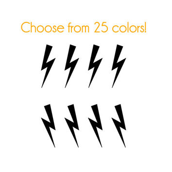 Lightning Bolt 1 Nail Decals - Vinyl, Custom Choice of Color