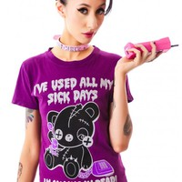 New Breed Girl Sick Days Ted Tee | Dolls Kill