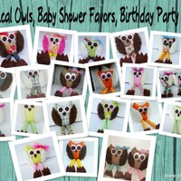 Wholesale Whimsical Owls, Birthday Party Favors, Baby Shower Favors, Baby Toys, Rattle, Soft stuffed animal