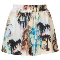 **PALM PRINT RUNNER SHORTS BY OH MY LOVE