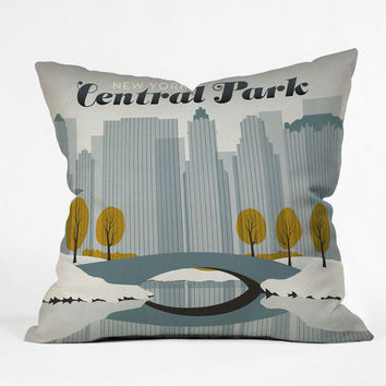 "Anderson Design Group Central Park Snow Throw Pillow - Indoor / 26"" x 26"" / Pillow Cover Only"