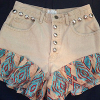 NEW Ruffle High Waisted denim shorts