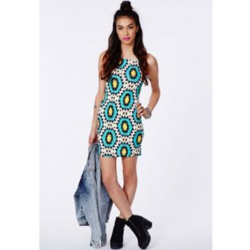 Missguided - Raimonda 90s Aztec Mini Dress - Campaign