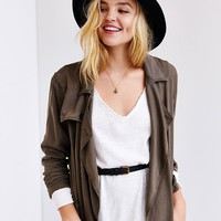Truly Madly Deeply Textured V-Neck Tunic Top - Urban Outfitters