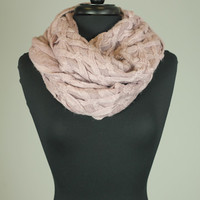 Woven Infinity Scarf, Lilac