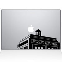 Doctor Who Call Box Macbook Decal