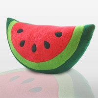 Watermelon Pillow Cute Pillow by WinterPetals on Etsy